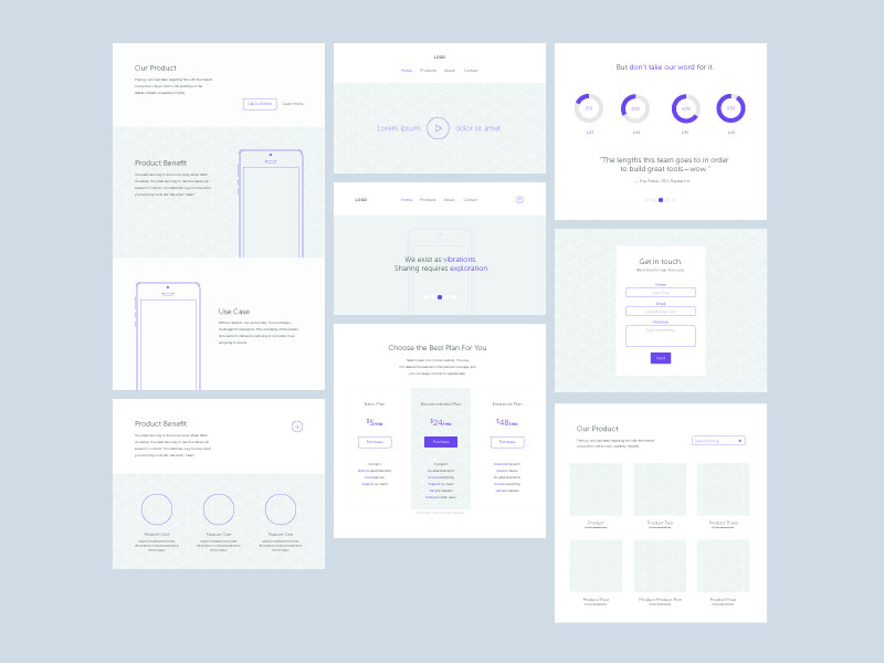 30 Free Mobile, UX & Web Wireframe Templates