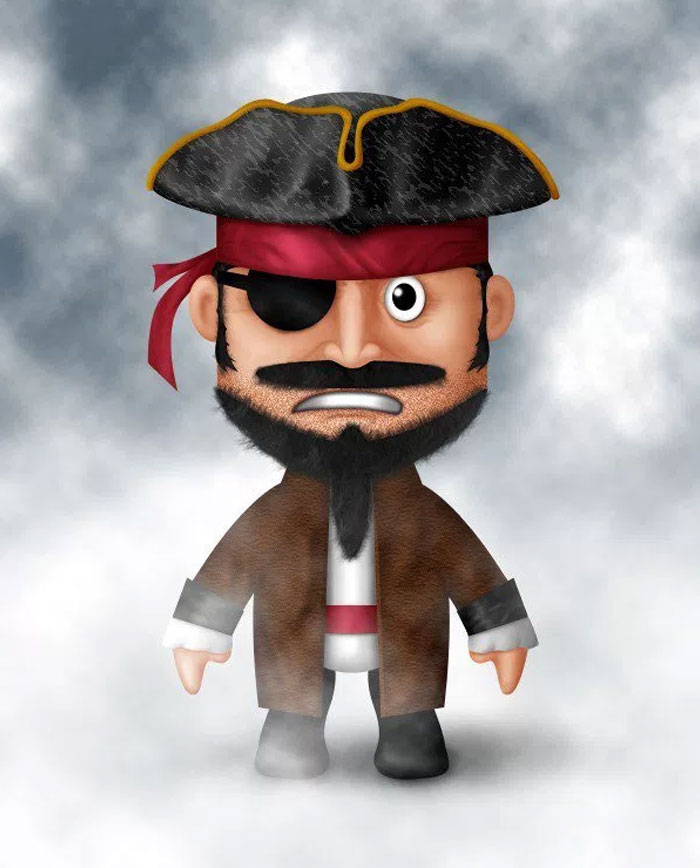 How-to-Draw-a-Cute-Pirate-Character-in-Photoshop
