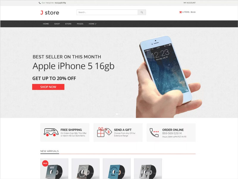 Jstore-Free-WordPress-eCommerce-Theme
