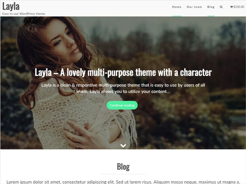 Layla-Free-Clean-&-Responsive-Multi-Purpose-Theme