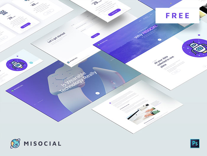 MISOCIAL-Free-PSD-Web-Template