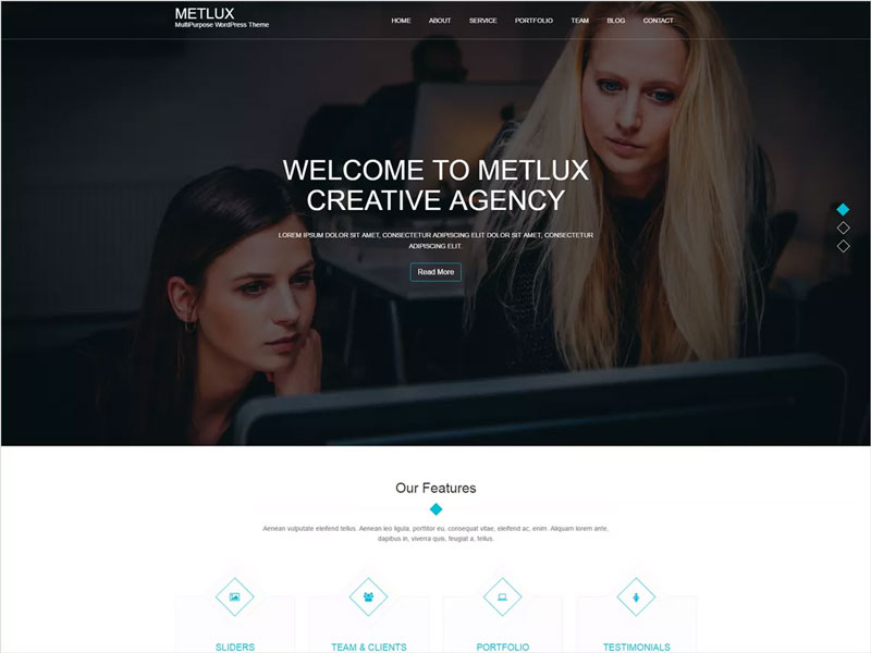 Metlux-Free-Clean,-Minimal-&-Responsive-WordPress-Theme