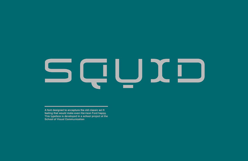 Squid-Display-Free-Typeface