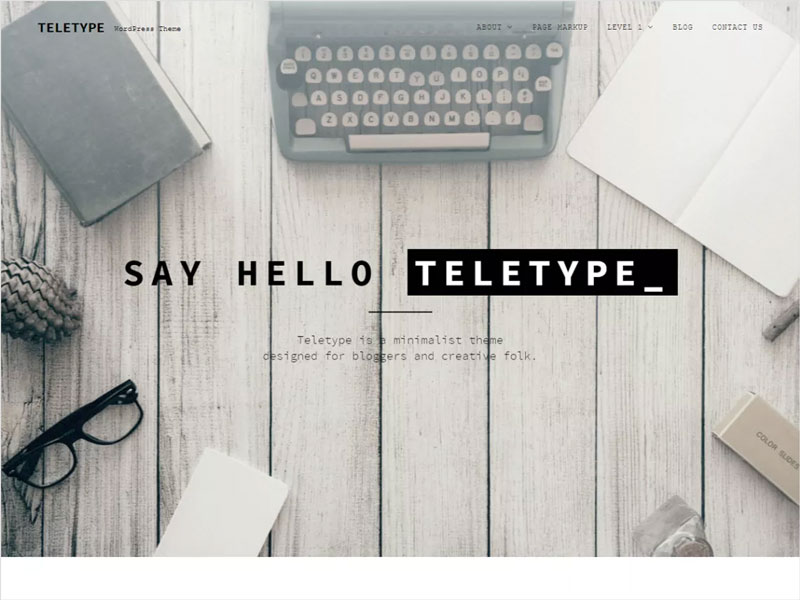 Teletype-Free-Minimalist-WordPress-Theme