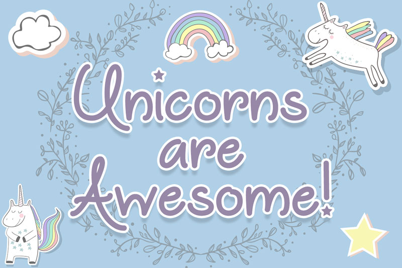 Unicorns-are-Awesome-Free-Funny-Script-Font