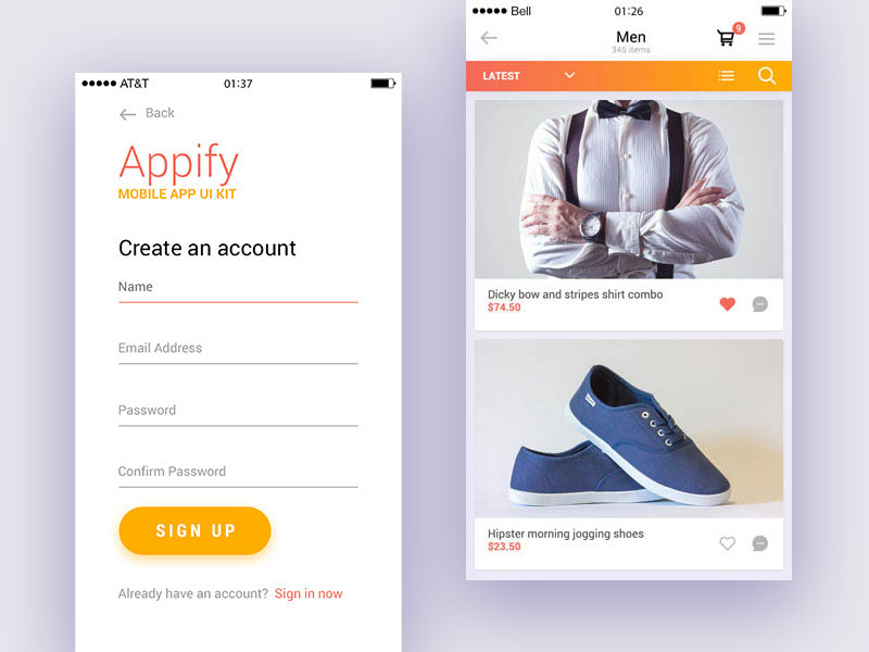 Appify-Free-Mobile-App-UI-Kit