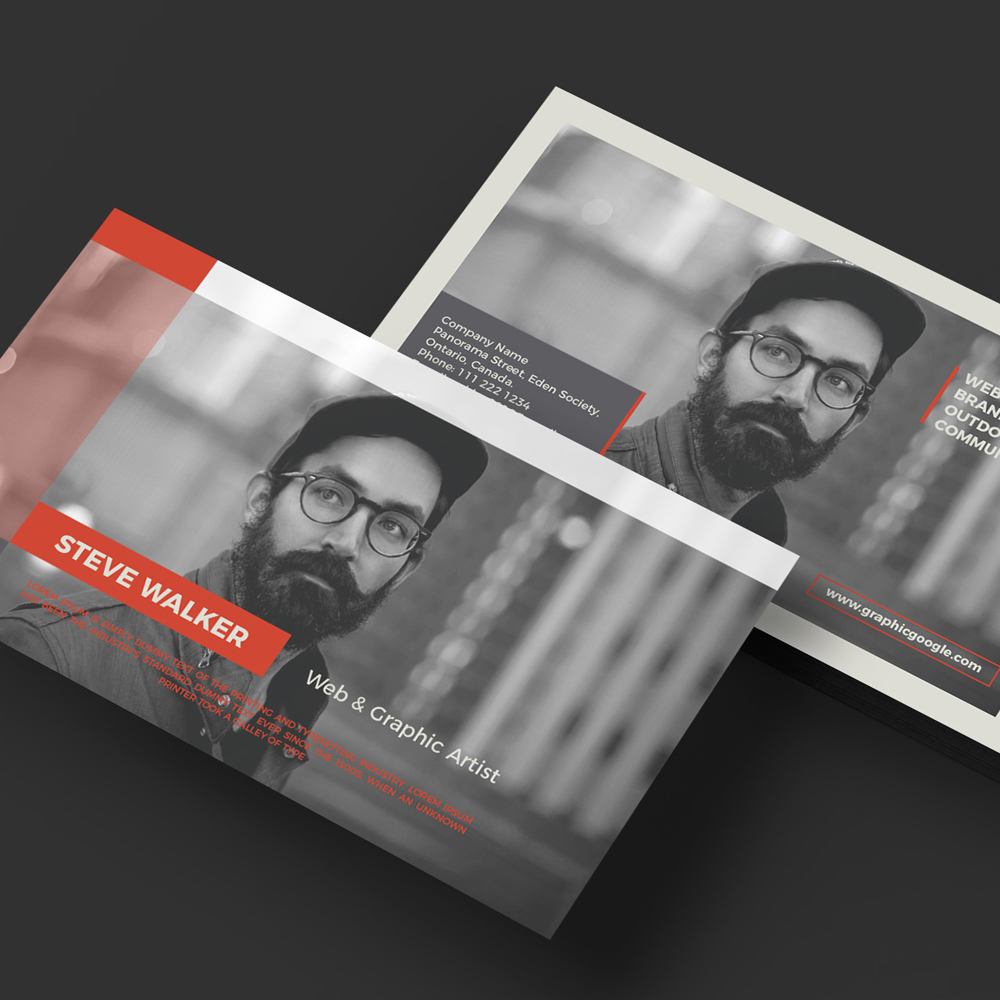 Free Creative Graphic Artist Business Card Template - Artist business card template