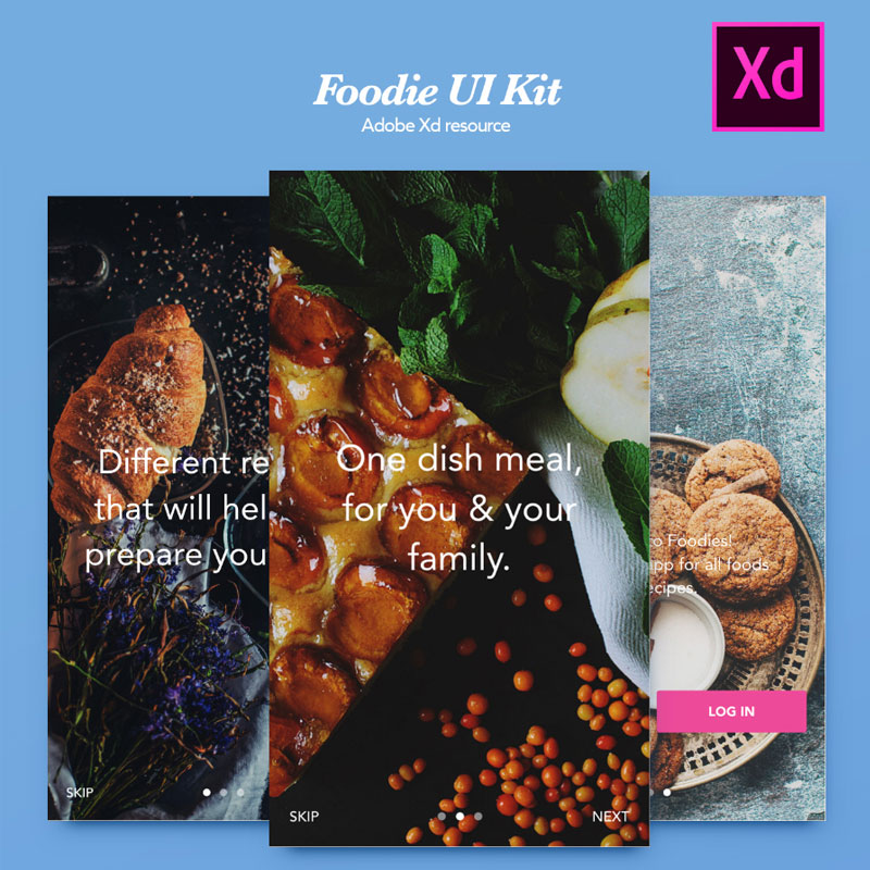 Foodies-Free-Mobile-UI-Kit