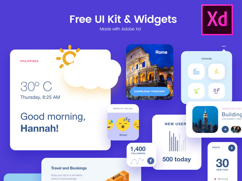 Free-Adobe-Xd-UI-Kit-Widgets