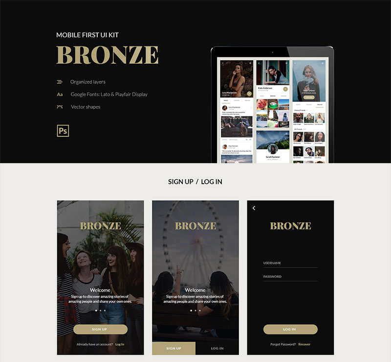 Free-BRONZE-UI-Kit
