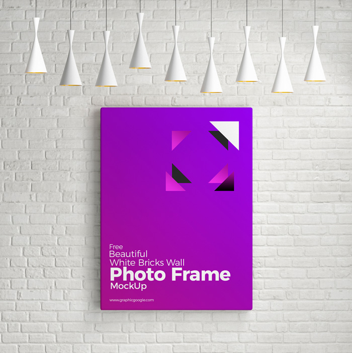 Free-Beautiful-White-Bricks-Wall-Photo-Frame-Mockup