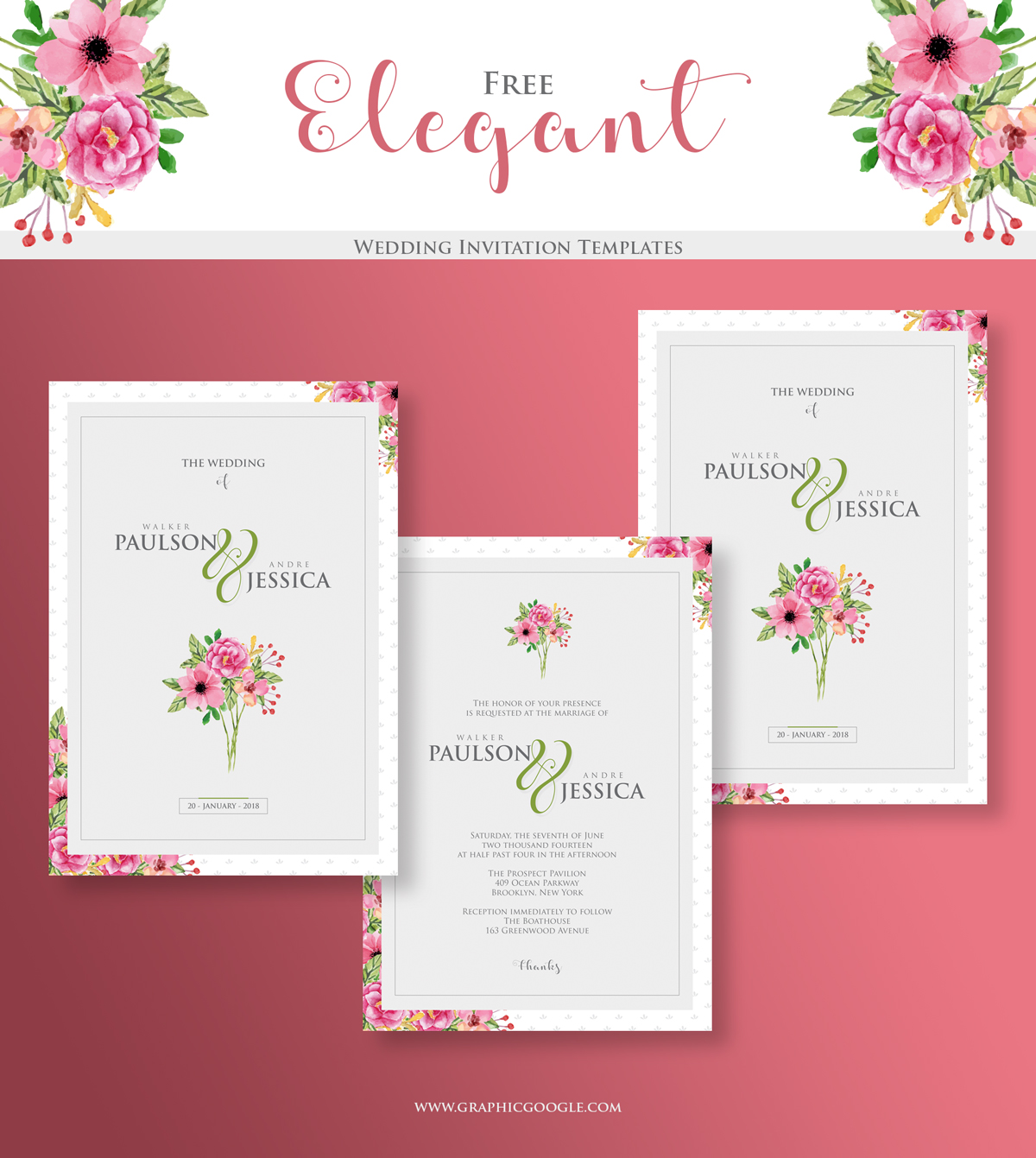 Elegant invitation templates free for Free wedding templates