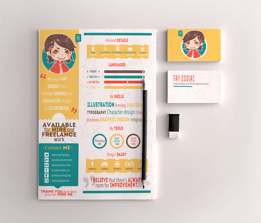 Free-Infographic-Resume-Template-For-Graphic-Designers-&-Illustrators