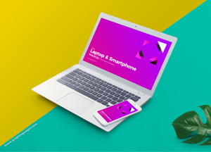 Free Laptop & Smart Phone Mockup For Your Design Presentation