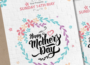 Free Pretty Mothers Day Flyer Template