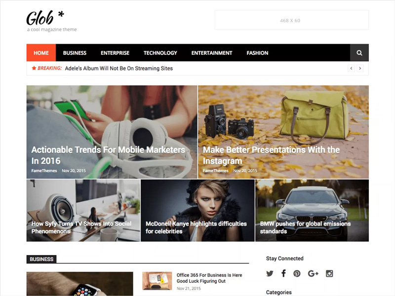 Glob-Free-WordPress-Magazine-Theme