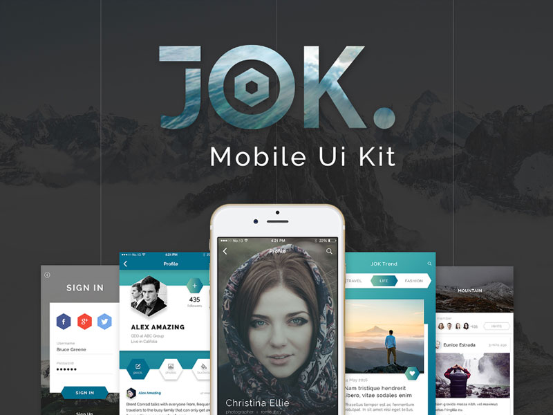 JOK-Mobile-UI-Kit-Free-Demo