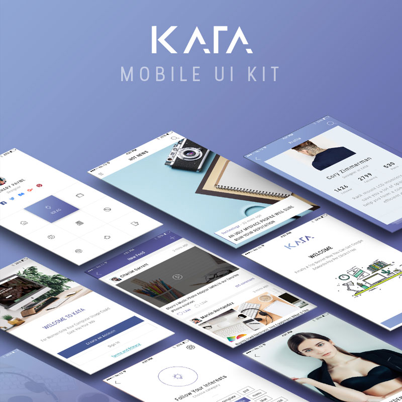 Kata-Mobile-UI-Kit-Free-Demo