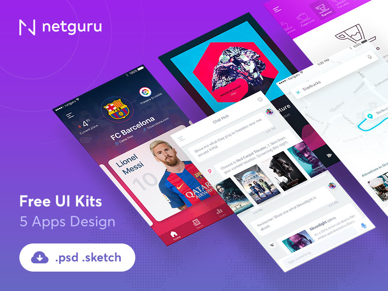 Mobile-Apps-Free-UI-Kits