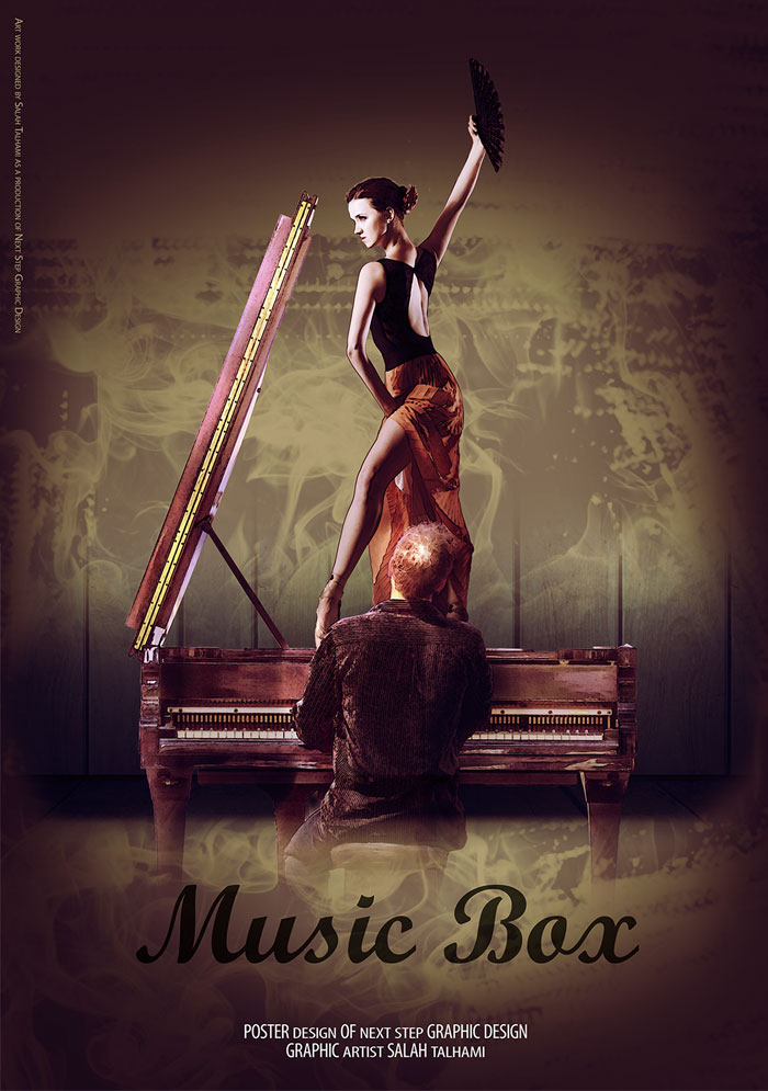 Music-Box-Creative-Poster