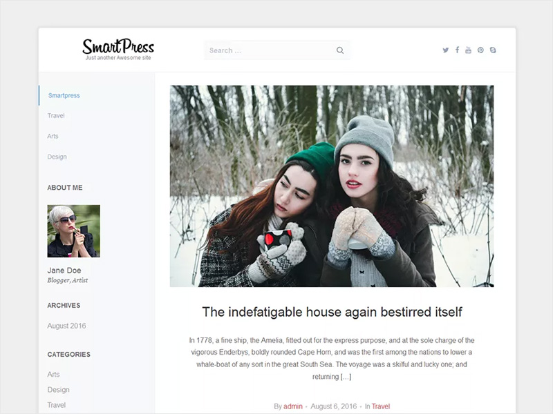 Smartpress-Free-Multipurpose-WordPress-Blogging-Theme