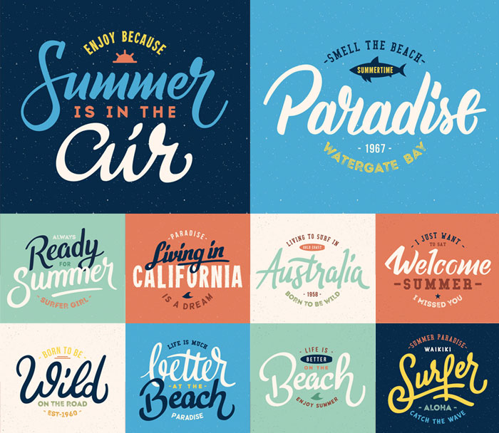 10-Free-High-Quality-Summer-Lettering-Vector-Templates