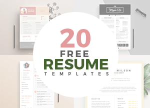 20 Creative & Simple Resume Templates For DesignersGraphic ...
