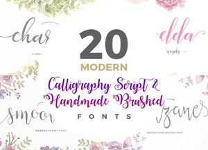 20 Fabulous Modern Calligraphy Script & Handwritten Brushed Fonts