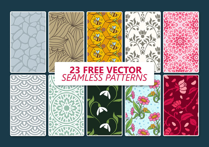 23-Free-Vector-Seamless-Patterns-Templates