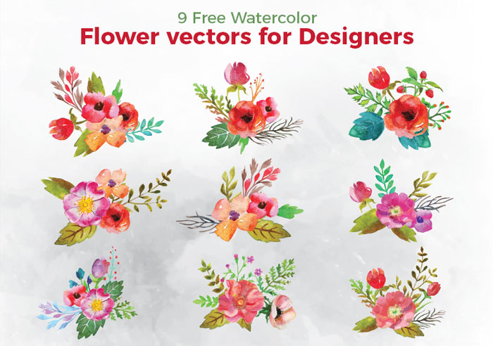9-Free-Watercolor-Flower-Vectors-For-Designers