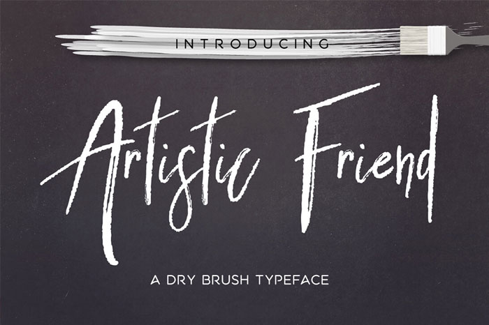 Artistic-Friend-Dry-Brush-Typeface