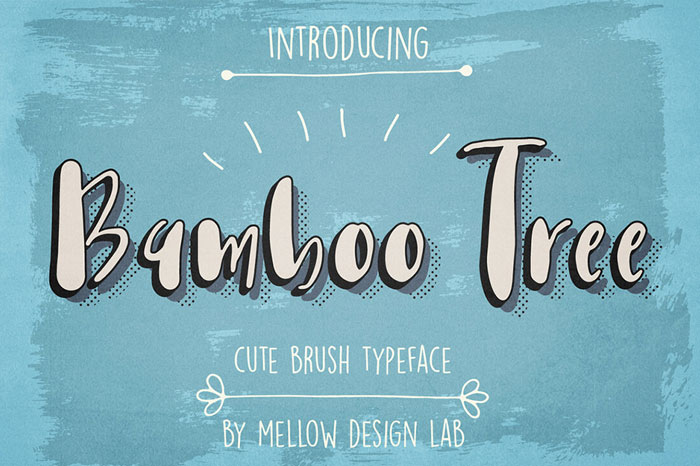 Bamboo-Tree-Cute-Brush-Typeface