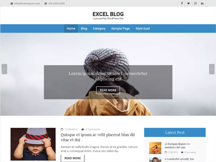 Excel-Blog-Modern-SEO-Ready-Free-Blog-WordPress-Theme