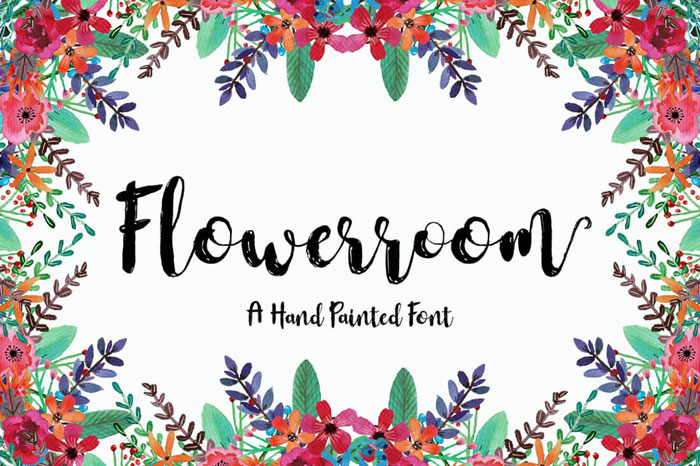 Flowerroom-Hand-Painted-Font