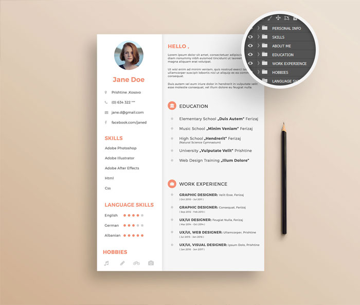 Free-Clean-&-Simple-Resume-Design-Template
