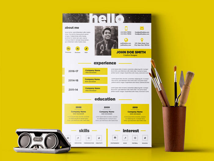 Free-Creative-and-Elegant-Resume-Template-PSD