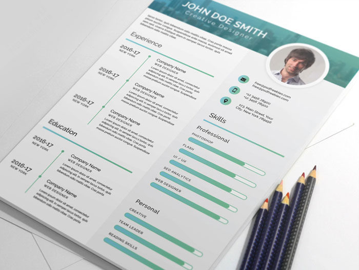 Free-Elegant-and-Modern-CV-Resume-PSD-Template
