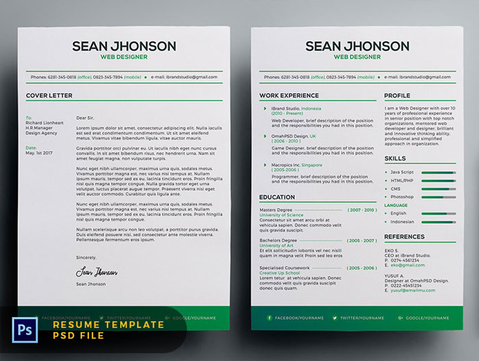 Free-Malist-Resume-Template-with-Cover-Letter