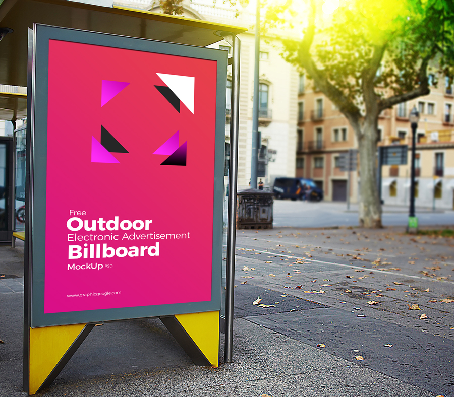 Free-Outdoor-Electronic-Advertisement-Billboard-Mockup-PSD