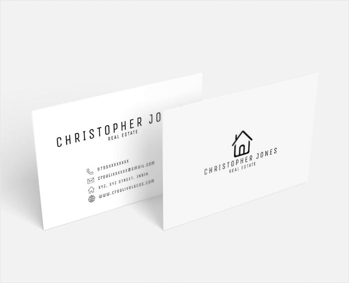 Free-Real-Estate-Minimal-Business-Card-Template