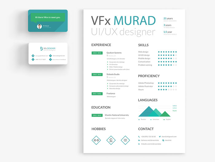 Free-Resume-&-Business-Card-Template