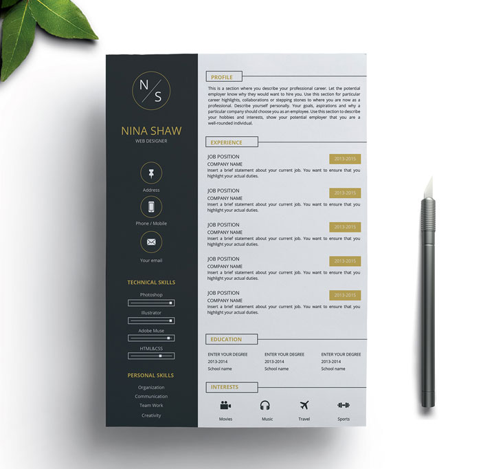 Free-Resume-Template-and-Matching-Cover-Letter