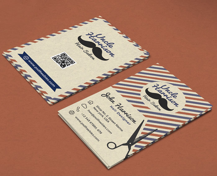 Free-Retro-Barber-Shop-Business-Card-PSD-Template