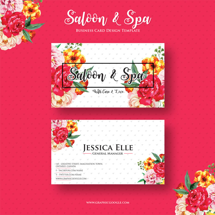 Free-Saloon-&-Spa-Business-Card-Design-Template