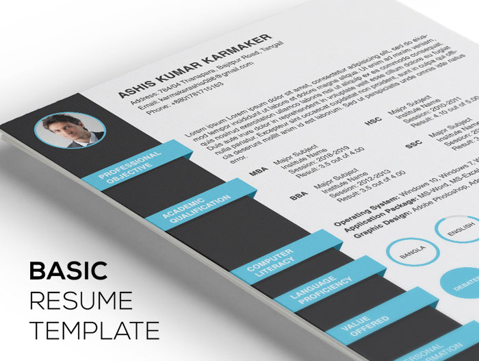 Free-Simple-Basic-Resume-Template