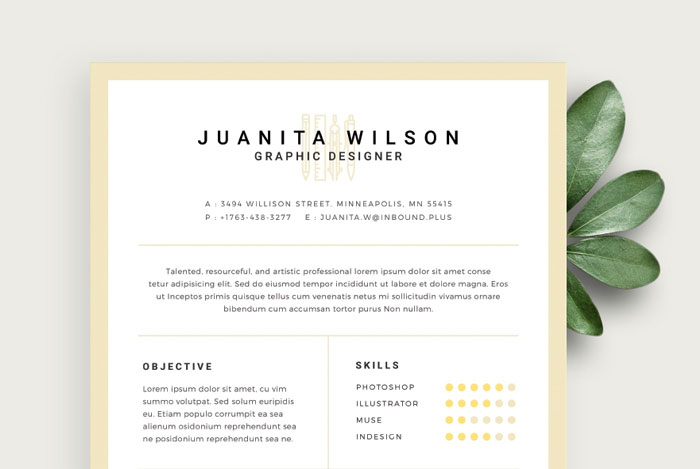 20 creative  u0026 simple resume templates for designersgraphic google  u2013 tasty graphic designs collection