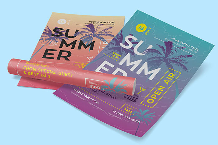 Free-Summer-Poster-Design-Template