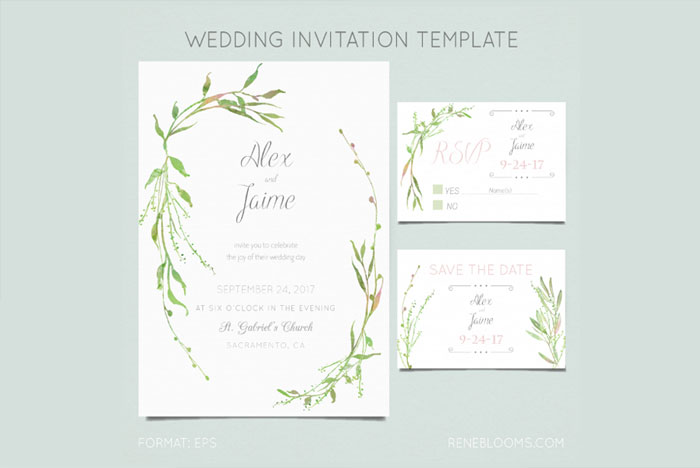 Free-Wedding-Invitation-Design-Template