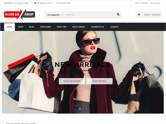 HamzahShop-Modern-Ecommerce-Free-WordPress-Theme