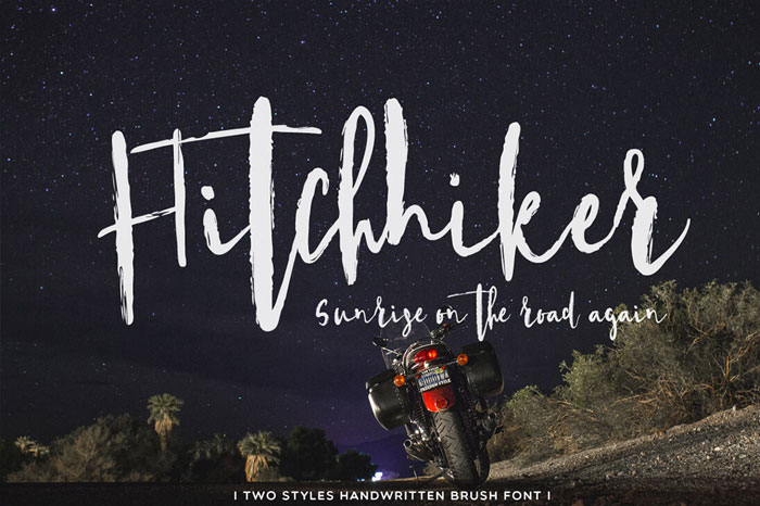 Hitchhiker-Handwritten-Brush-Font